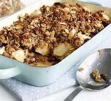 Oaty Apple Crumble Recipe Food