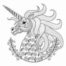 Malvorlagen Unicorn Rabbit Unicorn With Patterns Unicorns Coloring Pages