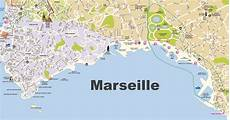 Marseille Beaches Map
