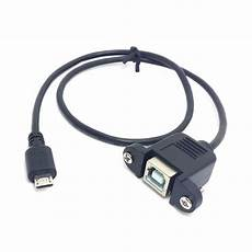 usb 2 0 5pin to usb b type b type cable 50cm with screws 0 5m in
