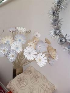 remodelled ikea stranne light with cardboard flowers