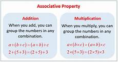 associative property for addition and multiplication exles solutions worksheets