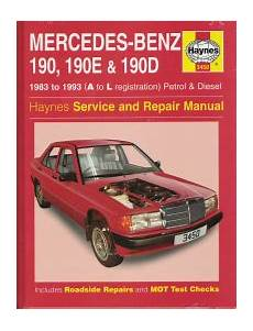 car maintenance manuals 1993 mercedes benz w201 transmission control 1983 1993 mercedes 190 190e 190d gas diesel haynes repair manual