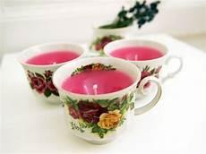 diy anleitung teacup candles selber machen via dawanda