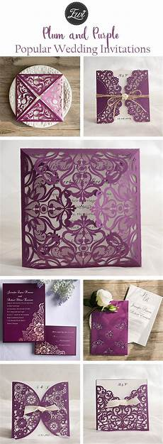 Plum Colored Wedding Invitations get inspired by these awesome plum purple wedding color