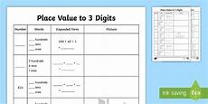 place value digit value worksheets 5323 place value to 3 digits worksheet activity sheet place value