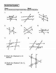 geometry lines worksheets 791 geometry unit 3 parallel lines solving equations worksheet tpt
