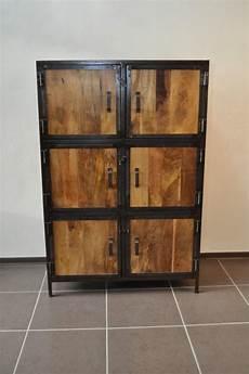 armoire bois metal armoire bois massif et m 233 tal industrielle destockage grossiste