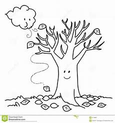 Ausmalbilder Herbst Baum Bare Tree With Branches Coloring Page Sketch Coloring Page