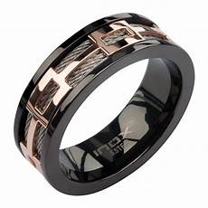 mens inox silver black rose gold ip 316l stainless