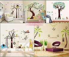 Wandtattoo Kinderzimmer Baum Afrika Wald Tiere Zoo