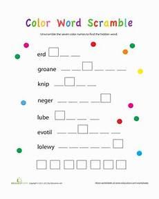 colors spelling printable 12809 word scramble colors worksheet education