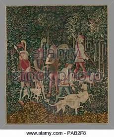 die jagd auf das einhorn bildende kunst tapisserie jagdszenen ca 15 jahrhundert st 228 dtische galerie m 252 nchen