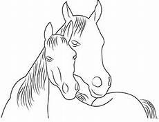 ausmalbilder zum ausdrucken pferd mit fohlen