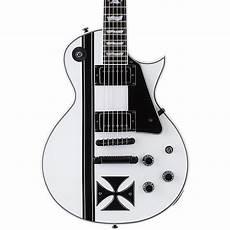 esp ltd iron cross esp ltd hetfield signature iron cross electric guitar snow white musician s friend