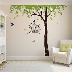 Wall Stickers Trees And Birds summer tree with bird cage wall stickers by parkins