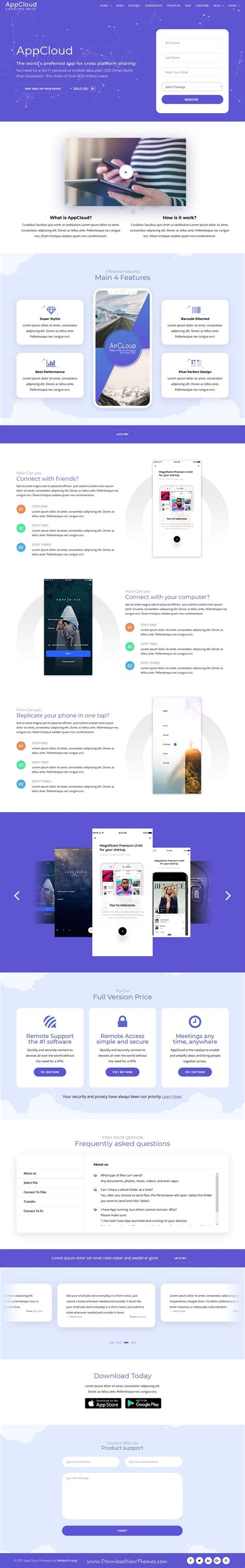 appcloud v1 0 6 app landing wordpress theme