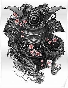samurai poster products japanische tattoos motive