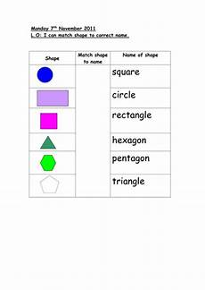 2d shapes names worksheets 1210 match 2d shape to name by auregbula teaching resources tes