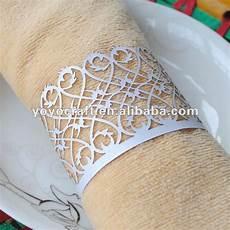 bulk wholesale metallic paper filigree elegant napkin ring for wedding decoration in napkin