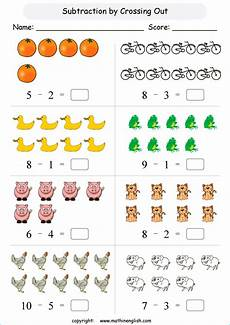 subtraction worksheets with pictures for grade 1 10328 subtraction within 10 printable grade 1 math worksheet