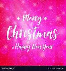 merry christmas pink background sparkle vector image