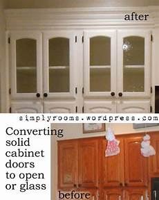 Kitchen Cabinet Doors Glass Inserts by Diy Changing Solid Cabinet Doors To Glass Inserts Home