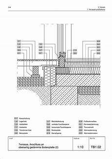 terrassenaufbau holz detail terrasse mit anschluss an ged 228 mmte bodenplatte graphic