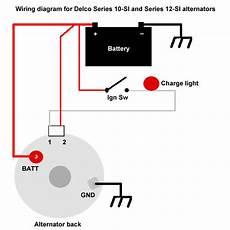 wiring diagram for ac delco alternator the delco 10 si and 12 si alternators