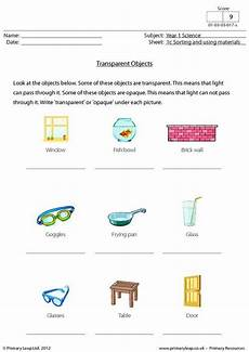 science worksheets materials 12296 primaryleap co uk science worksheet transparent objects science worksheets reading