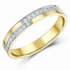 3mm 9 carat yellow gold diamond 18pt wedding ring yellow gold at elma uk jewellery