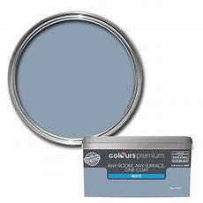 colours premium any room one coat blue thistle matt emulsion paint 2 5l departments diy at b