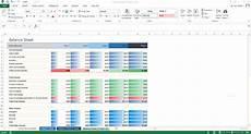 excel template 5 year balance sheet