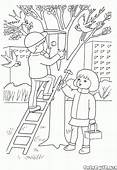 Coloring Page  Birdhouse On A Tree