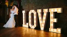 light up love letters the word is love