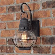 seeded glass globe outdoor wall lantern small shades of light