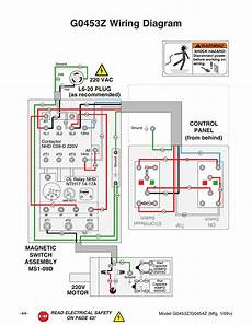 g0453z wiring diagram 220v motor grizzly g0453px user manual page 50 72