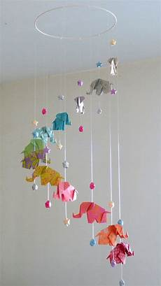fabriquer support mobile bébé mobile b 233 b 233 origami 201 l 233 phants et 201 toiles multicolore pop