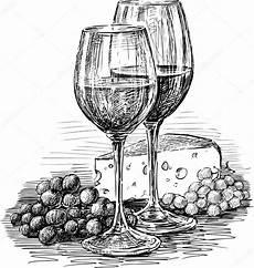 disegni di bicchieri scarica vector il disegno della natura morta di uva