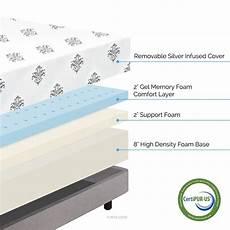 sch 246 ne lucid matratze kombinieren mit zoll gel memory foam