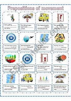 prepositions of movement a worksheet esl worksheet by akanah