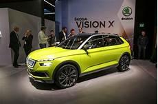 x vision x skoda vision x concept previews 2019 crossover autocar