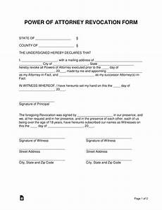 free power of attorney revocation form cancel power of attorney word pdf eforms free