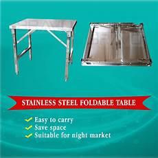 stainless steel foldable table meja lipat