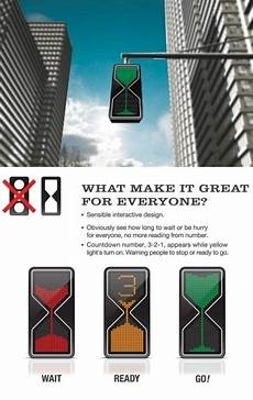 would an hourglass traffic light work better traffic light cool inventions interactive design