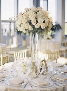 wedding table decorations for a cream wedding chwv