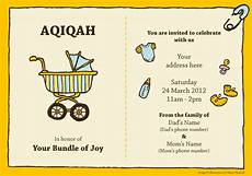 invitation card aqiqah template aqiqah invitation card hayfa invitation cards