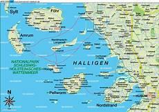 Ostfriesische Inseln Karte - karte nordfriesische inseln region in deutschland