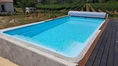 piscine hors sol coque piscine coque quot riviera 3 quot 8 x 4 fond plat 1 55m 224 lablach 232 re