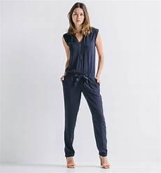 Combinaison Pantalon Femme Bleu Nuit Promod Iziva